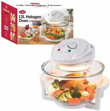 Quest 43890 Halogen Oven Low Fat Fryer Glass Housing 12L - 1400 Watt White