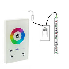 Touch Pannel Wall Mount Dimmer Controller DC12-24V for RGB Color LED Strip Light