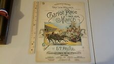 E.T. Paull Sheet Music 1894 Chariot Race Or Ben Hur March Litho By A. Hoen & Co.