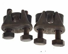 Lot Of 2 New No Box Burndy 2 Bolt Connector Clamp 2/0-10StrM-A-105, G144
