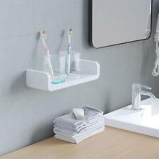 Plastic Wall Mounted Bathroom Wall Shelf U Shaped Suction Floating Rack Shower