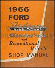 1966 Ford Van Repair Shop Manual Falcon Club Wagon Econoline 66 Original OEM
