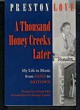 SIGNED JAZZ, BLUES & FUNK BIOGRAPHY BOOK: PRESTON LOVE preface by JOHNNY OTIS