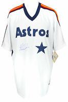 Nolan Ryan Signed Houston Astros Majestic Cooperstown Baseball Jersey BAS