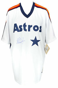 Nolan Ryan Signed Houston Astros Majestic Cooperstown Baseball Jersey BAS