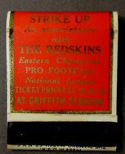 1937 WASHINGTON REDSKINS Football NFL Schedule FULL Matchbook