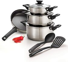 Tramontina 9 Pc Stainless Steel Cookware Set