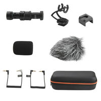 Video Microphone with Shock Mount for DJI Osmo Mobile 1/2 -Camera Stereo Mic New