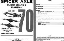 Dana Spicer Axle 1972 - Spicer Axle Model 70 Independent Front & Rear Carrier Ty