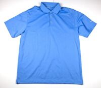 Mens Nike Golf Dri Fit S/S Polo/Golf Shirt Size Extra Large XL Blue Polyester