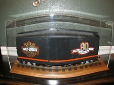 Vintage Harley-Davidson 90th Anniversary LGB Train Box Car #2080 & Display Case