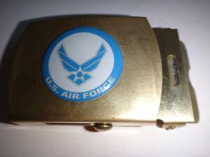 AMÉRICAIN Air Force Surélevées Insignes Acier Inoxydable Ceinture Boucle, By C E