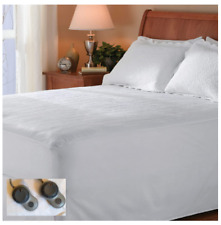 Heated Queen Size Mattress Pad Dual Control Heat Washable Bed Warmer Electric