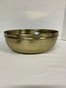 NewTHRESHOLD NEW Round Brass Bowl Decorative Gold Antiqued Brass Tabletop Accent
