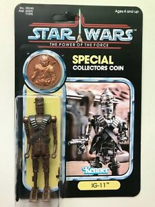 RETRO COLLECTION IG-11 ON POWER OF THE FORCE CARD & COIN COPPER COIN MANDALORIAN
