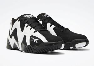Size 9.5 Men's - Reebok Kamikaze II Low Shawn Kemp Black/White Basketball FY9780