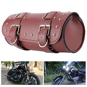 Motorcycle Handlebar Luggage Bag Saddlebag Sunglass Holder PU Leather (Brown )