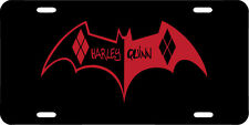 Harley Quinn High Quality Black License Plate