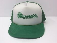 Fitzgeralds Casino/Hotels Trucker Hat Green Mesh Vintage Adj Reno Las Vegas