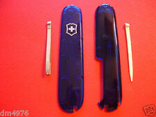 NEW SWISS ARMY VICTORINOX 91mm SAPPHIRE PLUS SCALES W/THPICK & TWEEZER FREE SHIP