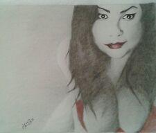 Original 8.5x11 nude woman drawing done by Instagram artist ARTuro