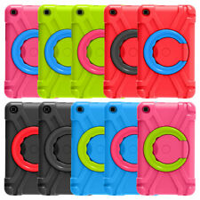 For Samsung Tab A 8.0' T290 T295 2019 Spin Stand Silicone Case Rugged Hard Cover