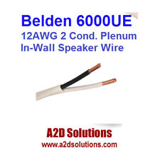 BELDEN 6000UE 8771000 12 AWG 2C Cable Plenum-rated In-Wall Speaker Wire 1,000 FT