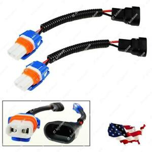 2x 9006 9012 HB4 Extension Wiring Harness Sockets Adapter Headlights Fog Lights