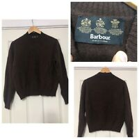 Barbour Womens Brown Jumper Pullover Wool Angora  Size 14 Great Condition (C718)