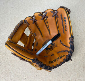 "Easton Pro 45 11.5"" Double Tanned Kip Leather Baseball Glove Mitt RH"