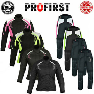 2 Piece Motorbike Ladies Suit Motorcycle Jacket Trousers Codura CE Approved Suit