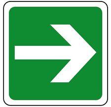 Cartello segnaletica indicazione freccia. Emergency exit arrow 230x230mm