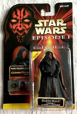 Old Stock Star Wars Episode 1 Darth Maul With CommTech Chip 1999 Hasbro