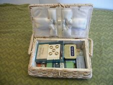 Vintage Granny's Sewing Basket Box Kit w/ Hand Sewing Supplies,includes thimbles