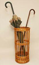 Vintage Wicker Rattan Cane Stick Umbrella Stand Hallway Stand Lead liner