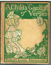 A Child's Garden of Verses by Robert Louis Stevenson 1902 Art Noveau Rare Book$