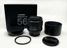 Fujifilm 56mm F/1.2 R Lens with UV Filter and Extra Hood