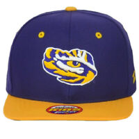 NCAA Zephyr Louisiana State Tigers LSU Youth Kids Snapback Flat Bill Hat Cap