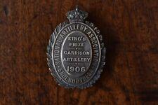 National Artillery Association, King's Prize, Garrison Artillery 1906. Silver.