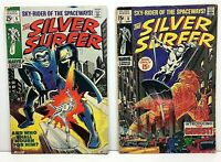 Silver Surfer #5 & #8 *Lot of 2* Silver Age Comic Books! Marvel LOW GRADE