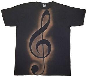 T-SHIRT MAGLIETTA CHIAVE VIOLINO MUSICA MUSIC TREBLE CLEF HANDMADE MODA