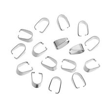 100PCs Stainless Steel Pendant Pinch Bail Clasps Jewelry Finding 7.7mmx5.4mm