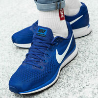 NIKE AIR ZOOM PEGASUS 34 Running Trainers Gym Shoes - UK Size 7.5 (EUR 42) Blue