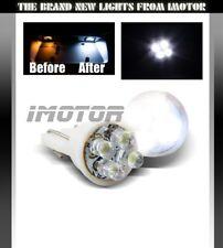 2 X PURE WHITE 4-LED 168/194/2825/T10 REAR LICENSE PLATE LIGHT/SIDE MARKER BULBS