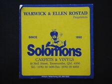 SOLOMONS CARPETS & VINYLS 10 NEIL ST TOOWOOMBA 076 381499 COASTER
