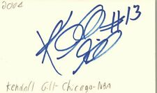Kendall Gill Chicago Bulls NBA Basketball Autographed Signed Index Card