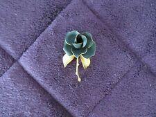 Badge Jet Black Rose Enamel Pin 1.5x2.5cm