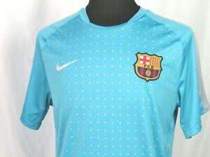 Men's Nike Dri-Fit FCB Barcelona Light Blue 100% Polyester Soccer Jersey Large