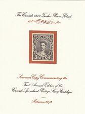 Canada 3 1851 12d black Queen Victoria forgery, counterfeit, fake, facsimile.