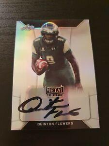Quinton Flowers 2018 Leaf Metal Draft Football RC Auto Card USF Bulls